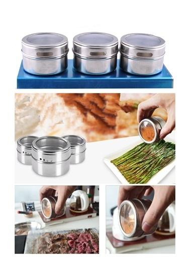Practika Buzdolabına Yapışabilen Baharatlık Seti Renkli